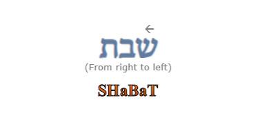 Image - Word SHaBaT in Hebrew